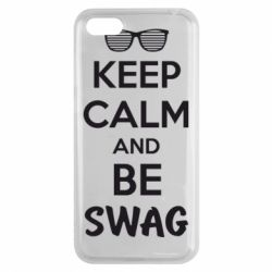Чехол для Huawei Y5 2018 KEEP CALM and BE SWAG - FatLine