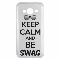 Чехол для Samsung J3 2016 KEEP CALM and BE SWAG - FatLine