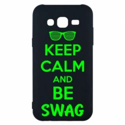 Чехол для Samsung J5 2015 KEEP CALM and BE SWAG - FatLine