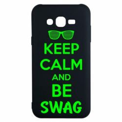 Чехол для Samsung J7 2015 KEEP CALM and BE SWAG - FatLine