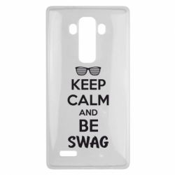 Чехол для LG G4 KEEP CALM and BE SWAG - FatLine