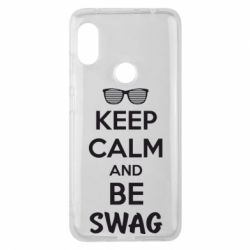 Чехол для Xiaomi Redmi Note 6 Pro KEEP CALM and BE SWAG - FatLine
