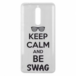 Чехол для Nokia 8 KEEP CALM and BE SWAG - FatLine