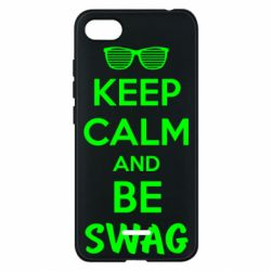 Чехол для Xiaomi Redmi 6A KEEP CALM and BE SWAG - FatLine