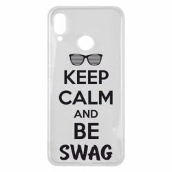 Чехол для Huawei P Smart Plus KEEP CALM and BE SWAG - FatLine