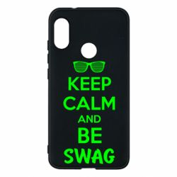 Чехол для Mi A2 Lite KEEP CALM and BE SWAG - FatLine