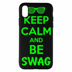 Чехол для iPhone X KEEP CALM and BE SWAG - FatLine
