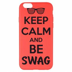 Чехол для iPhone 6 Plus/6S Plus KEEP CALM and BE SWAG - FatLine