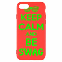 Чехол для iPhone 7 KEEP CALM and BE SWAG - FatLine