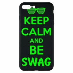Чехол для iPhone 8 Plus KEEP CALM and BE SWAG - FatLine