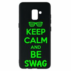 Чехол для Samsung A8+ 2018 KEEP CALM and BE SWAG - FatLine