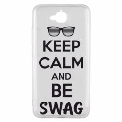 Чехол для Huawei Y6 Pro KEEP CALM and BE SWAG - FatLine