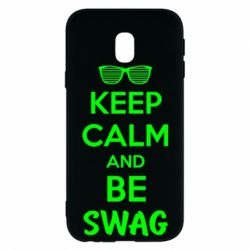 Чехол для Samsung J3 2017 KEEP CALM and BE SWAG - FatLine
