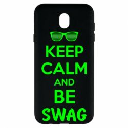 Чехол для Samsung J7 2017 KEEP CALM and BE SWAG - FatLine