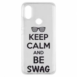 Чехол для Xiaomi Mi A2 KEEP CALM and BE SWAG - FatLine