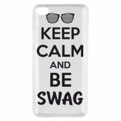 Чехол для Xiaomi Mi 5s KEEP CALM and BE SWAG - FatLine