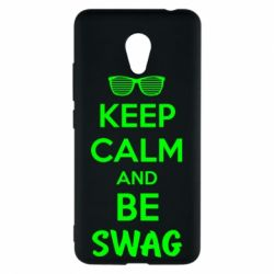 Чехол для Meizu M5c KEEP CALM and BE SWAG - FatLine