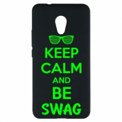 Чехол для Meizu M5s KEEP CALM and BE SWAG - FatLine