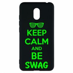 Чехол для Meizu M6 KEEP CALM and BE SWAG - FatLine
