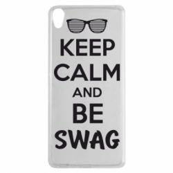 Чехол для Sony Xperia XA KEEP CALM and BE SWAG - FatLine