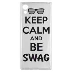 Чехол для Sony Xperia XA1 KEEP CALM and BE SWAG - FatLine
