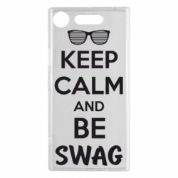 Чехол для Sony Xperia XZ1 KEEP CALM and BE SWAG - FatLine