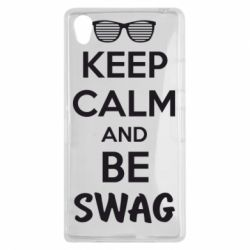Чехол для Sony Xperia Z1 KEEP CALM and BE SWAG - FatLine