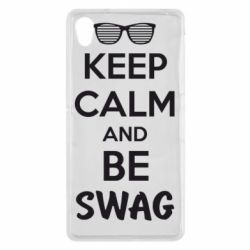 Чехол для Sony Xperia Z2 KEEP CALM and BE SWAG - FatLine