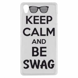 Чехол для Sony Xperia Z3 KEEP CALM and BE SWAG - FatLine