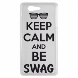 Чехол для Sony Xperia Z3 mini KEEP CALM and BE SWAG - FatLine