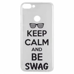 Чехол для Huawei P Smart KEEP CALM and BE SWAG - FatLine