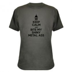 Камуфляжная футболка Keep Calm and Bite my shiny metal ass - FatLine