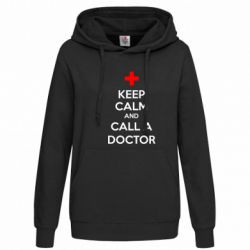 Женская толстовка KEEP CALM and CALL A DOCTOR - FatLine