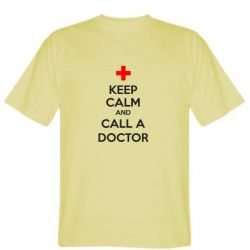 Мужская футболка KEEP CALM and CALL A DOCTOR - FatLine