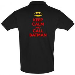 Футболка Поло KEEP CALM and CALL BATMAN