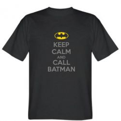 Мужская футболка KEEP CALM and CALL BATMAN - FatLine