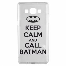 Чехол для Samsung A5 2015 KEEP CALM and CALL BATMAN
