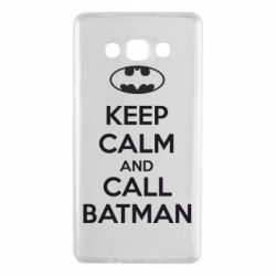 Чехол для Samsung A7 2015 KEEP CALM and CALL BATMAN