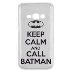 Чехол для Samsung J1 2016 KEEP CALM and CALL BATMAN
