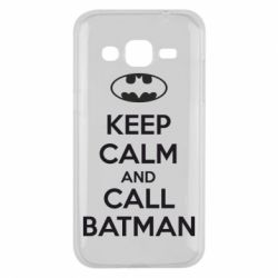Чехол для Samsung J2 2015 KEEP CALM and CALL BATMAN