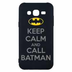 Чехол для Samsung J5 2015 KEEP CALM and CALL BATMAN
