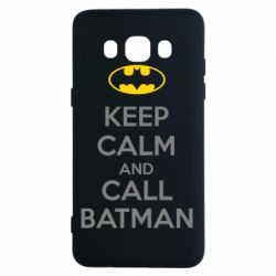 Чехол для Samsung J5 2016 KEEP CALM and CALL BATMAN