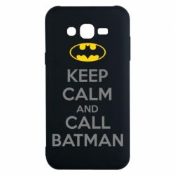 Чехол для Samsung J7 2015 KEEP CALM and CALL BATMAN