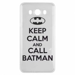 Чехол для Samsung J7 2016 KEEP CALM and CALL BATMAN