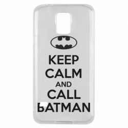 Чехол для Samsung S5 KEEP CALM and CALL BATMAN