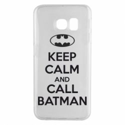 Чехол для Samsung S6 EDGE KEEP CALM and CALL BATMAN