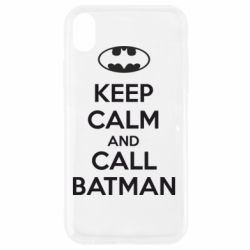 Чехол для iPhone XR KEEP CALM and CALL BATMAN