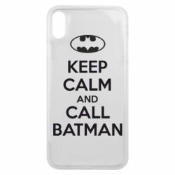 Чехол для iPhone Xs Max KEEP CALM and CALL BATMAN