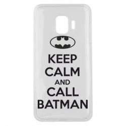Чехол для Samsung J2 Core KEEP CALM and CALL BATMAN