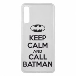 Чехол для Samsung A7 2018 KEEP CALM and CALL BATMAN